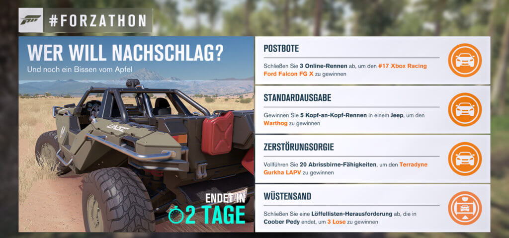 Forzathon für KW 5 2017