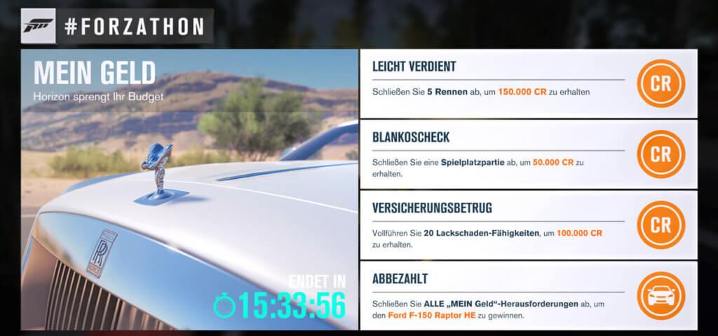 Forzathon für 14.03.17 2017