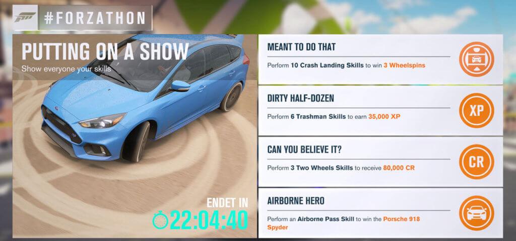 Forzathon für 18.04.2017
