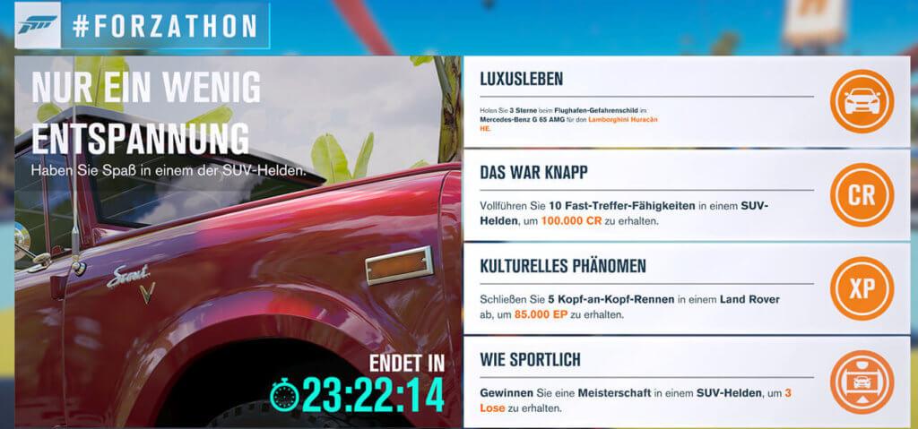 Forzathon für 23.05.17 2017
