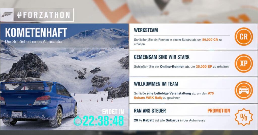 Forzathon für den 27.02.2017
