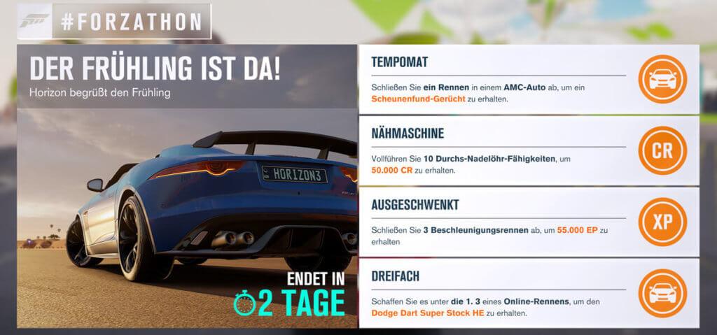 Forzathon für KW 14 2017